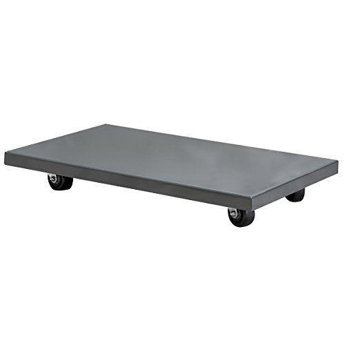 AkroMils RD843HR2436 Solid Deck Lips Down Powder Coated Steel Dolly 24Inch x 36Inch with 3Inch Polyolefin Swivel Casters Grey ** Click image for more details.