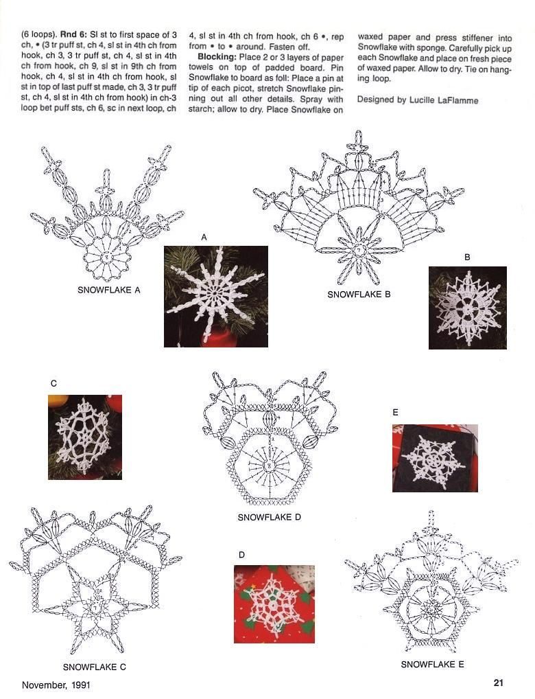 Esquemas de copos de nieve | SexyCrochet.COM | CARPETAS | Pinterest ...