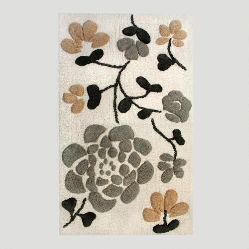 Asian bathroom rug sets