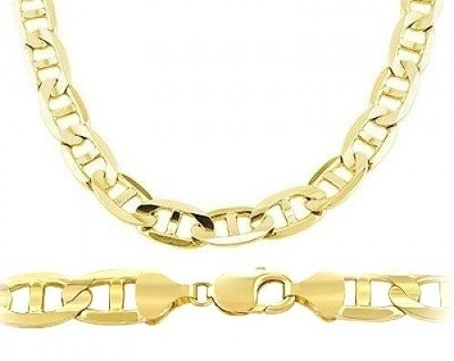gold miami mm chains cuban yellow mens inches link chain