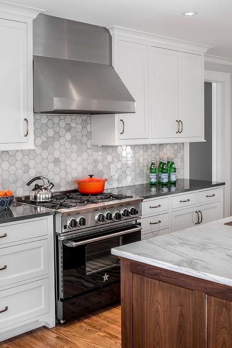 54+ Nice White Cabinet Kitchen Backsplash Tile Pattern ...