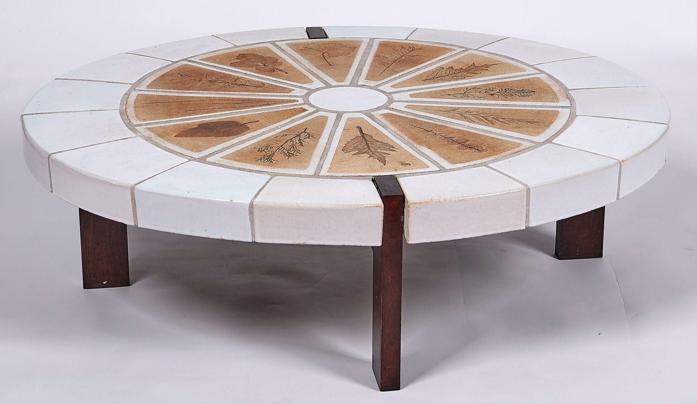Rare Modele De Table Basse Roger Capron Vallauris Signee En Ceramique Meuble Vintage Mobilier De Salon Vintage Design