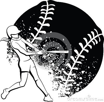 Softball With Flames Clipart   Free Images at Clker.com - vector clip art  online, royalty free & public domain
