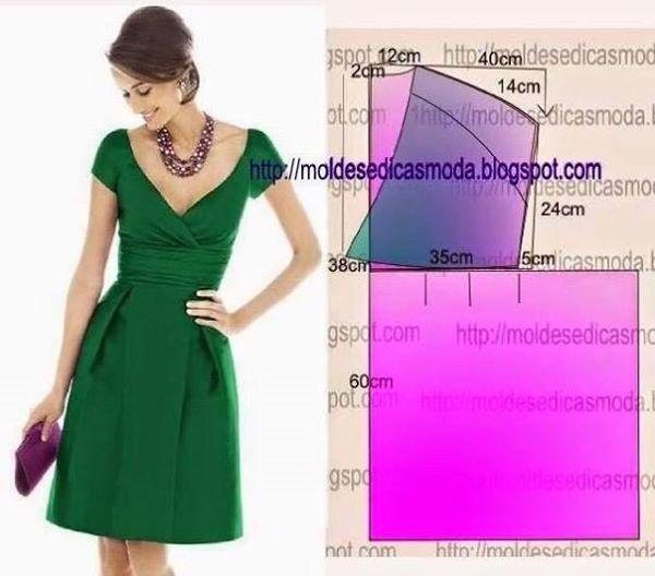costura | vestidos dama | Pinterest | Costura, Patrones y Patronaje