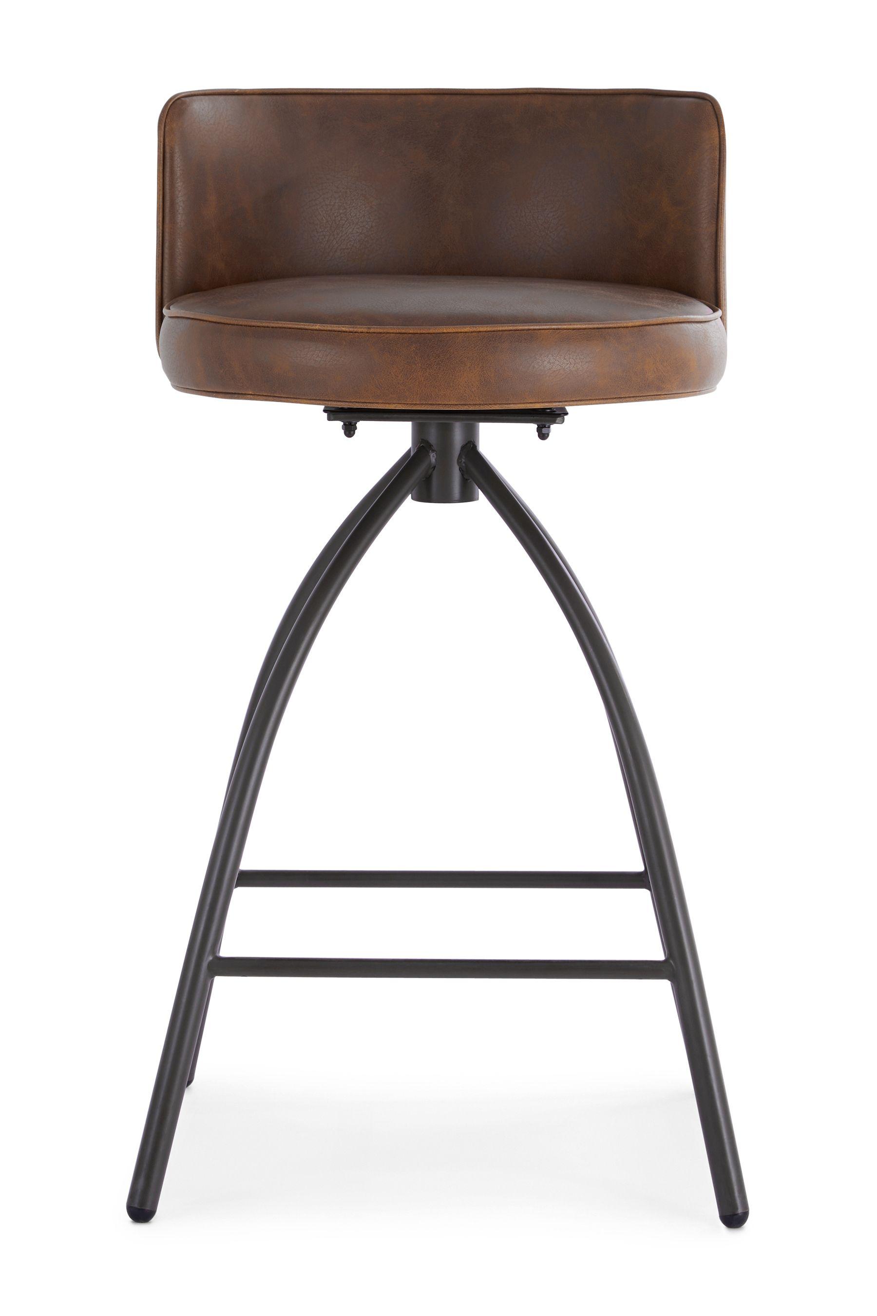 Ethan Bar Stool By Design Décor Brown