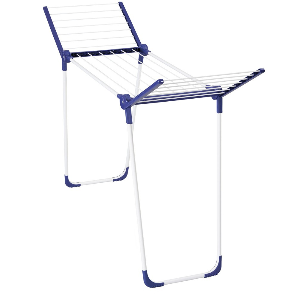 Household Essentials Leifheit Pegasus 120 Compact Solid Dryer Rack, Blue