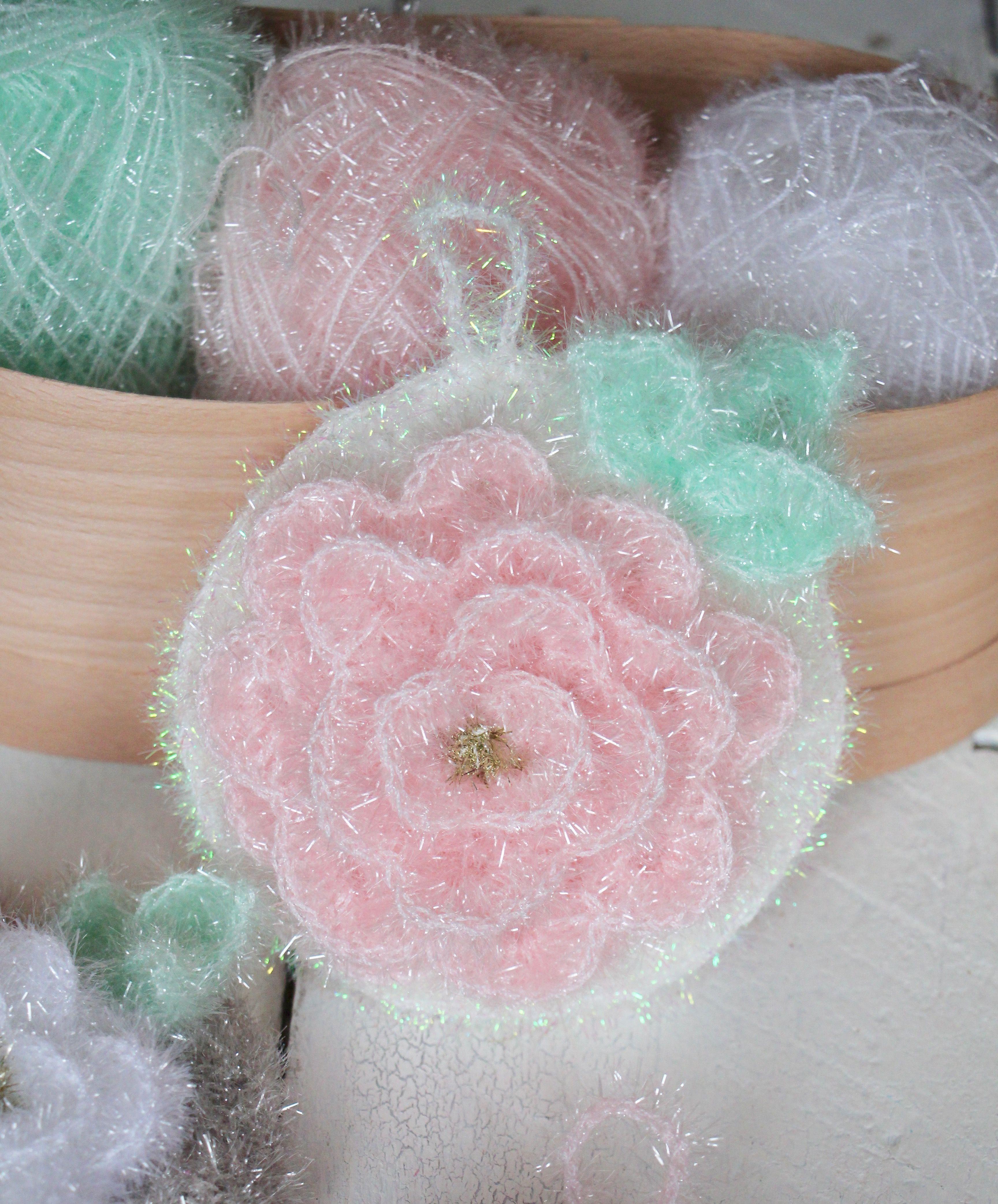 Duschschwämme No 8 Rosenblüten Häkeln Pinterest Amigurumi