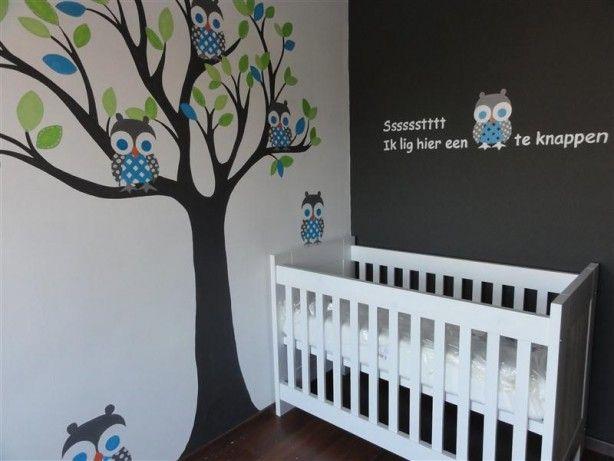 Mooie muurschildering voor baby kamer muurschilderingen baby kamer pinterest babykamer - Gordijn voor baby kamer ...
