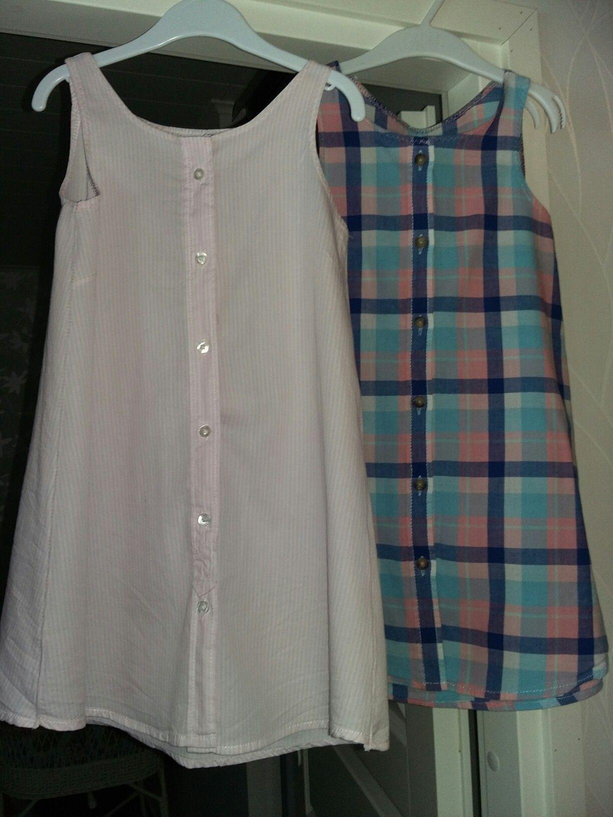 Vanhoista pieneksi jääneistä paidoista 2 vuotiaalle kesämekoksi