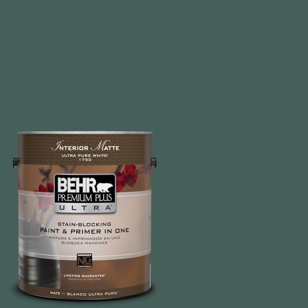 BEHR Premium Plus Ultra 1 gal. #M440-7 Rainforest Matte Interior Paint