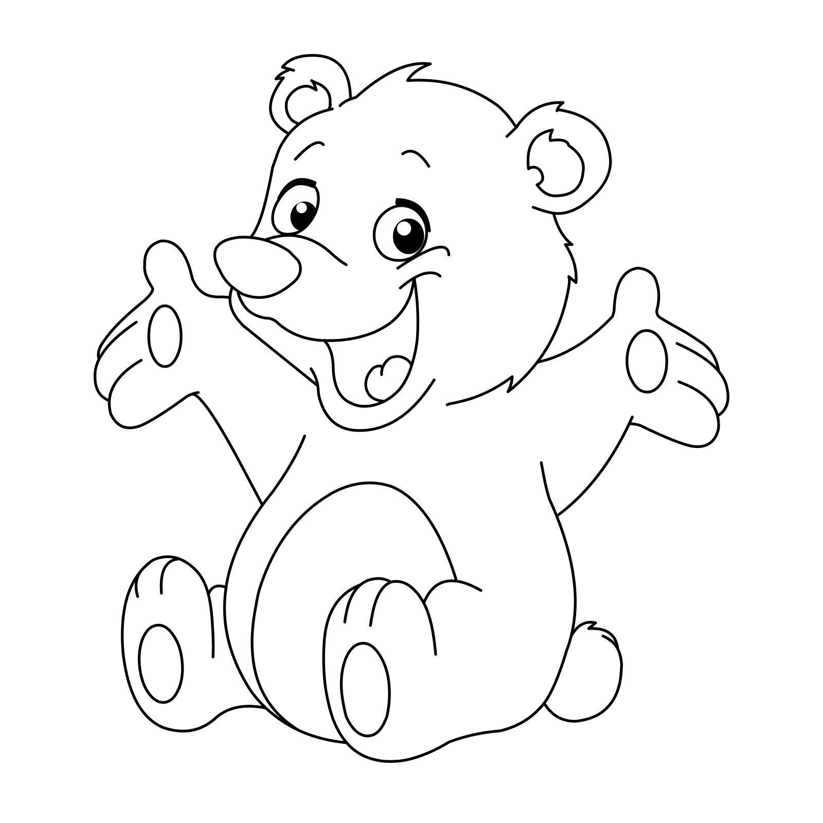 Épinglé par Zygoto sur Art Coloriage ours, Coloriage