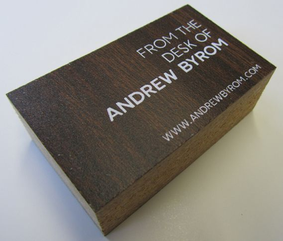 Andrew Byrom S Recycled Business Cards Creative Review Google Business Card Innovative Business Cards Business Card Inspiration
