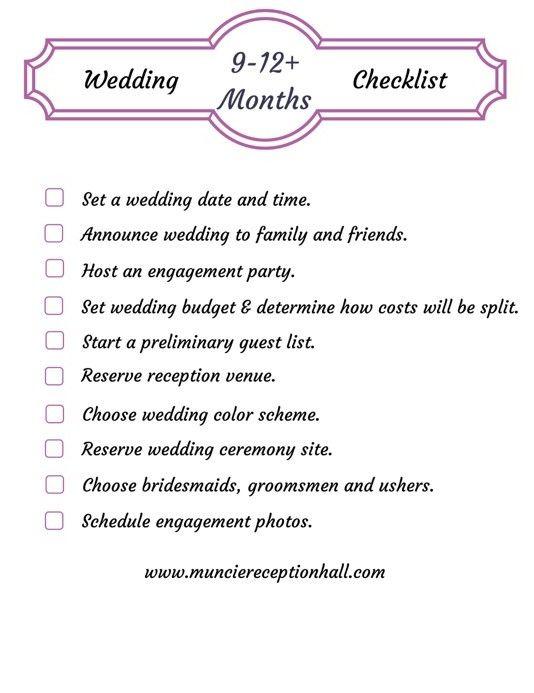 Printable Wedding Planning Worksheet 9 12 Months Wedding Planning