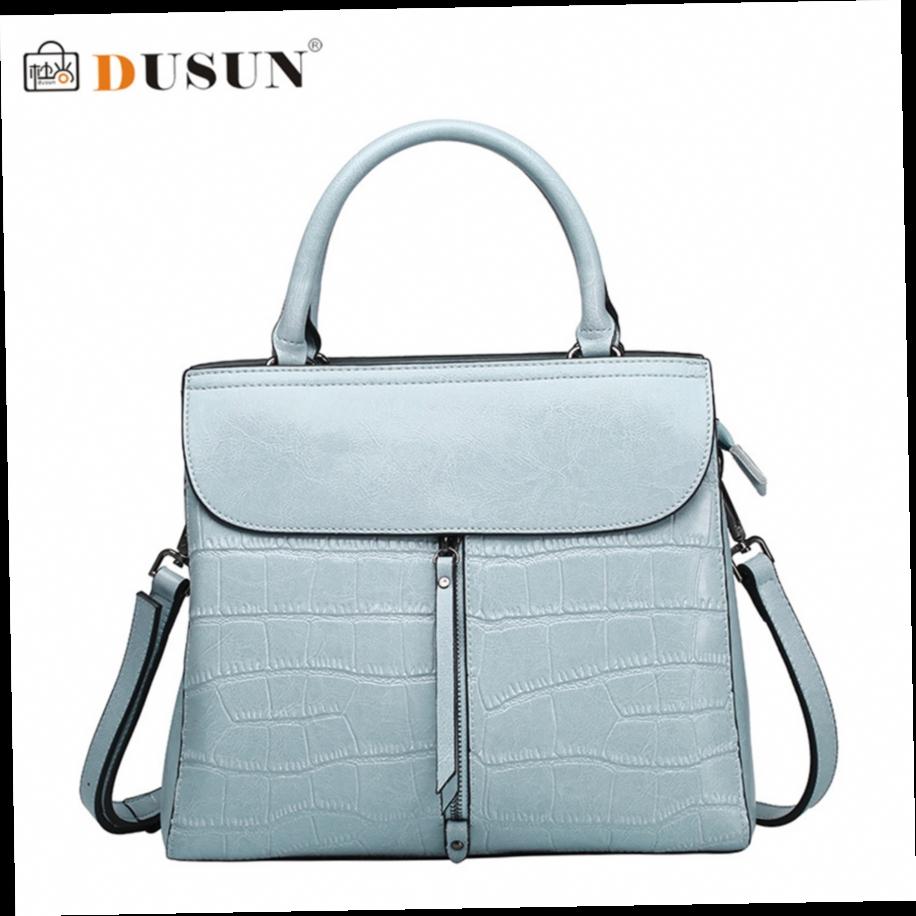 DUSUN New Casual Handbags Women Bag Genuine Leather Handbag Fashion Wild  Brands Luxury Women Bags Messenger Bag Bolsa Feminina ce21e3d2b9621