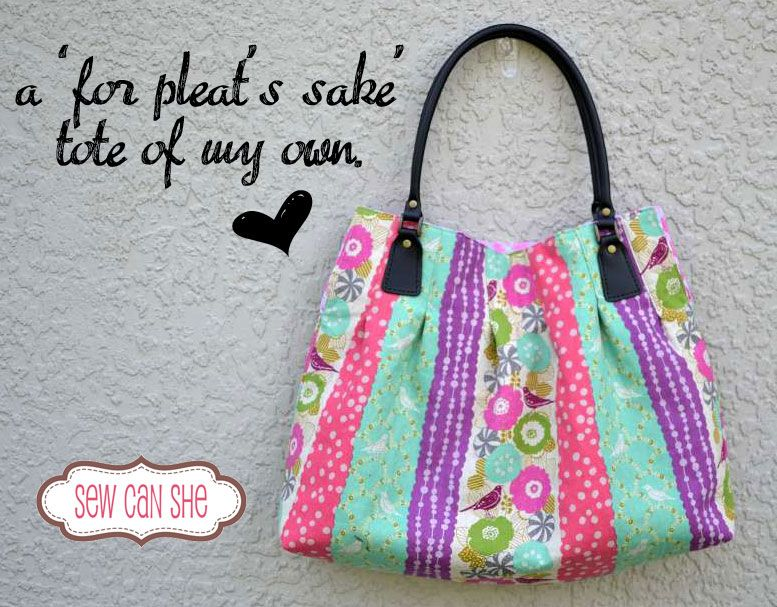 My very own 'For Pleat's Sake' Tote!