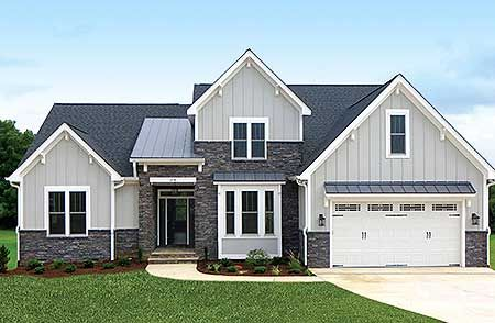 Plan 42296DB 4 Bedroom Craftsman With Cathedral Ceiling