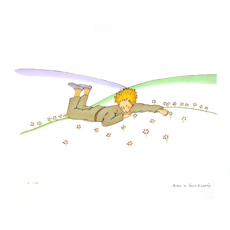 Saint Exupery (2008) The Little Prince Dreaming (Le Reve), Lithograph