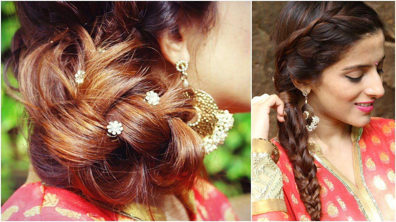 Indian Wedding Hairstyle Images For Long Hair Medium