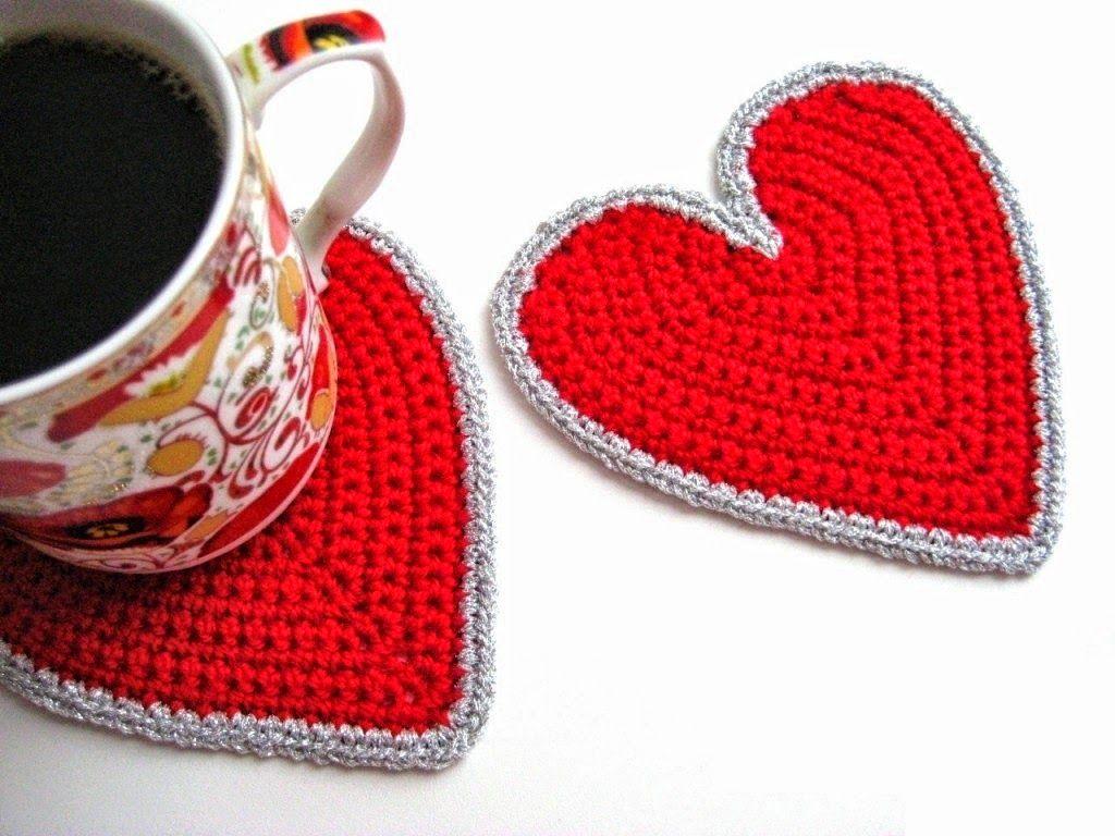 Idea para el día de la madre: posavasos con forma de corazón ...