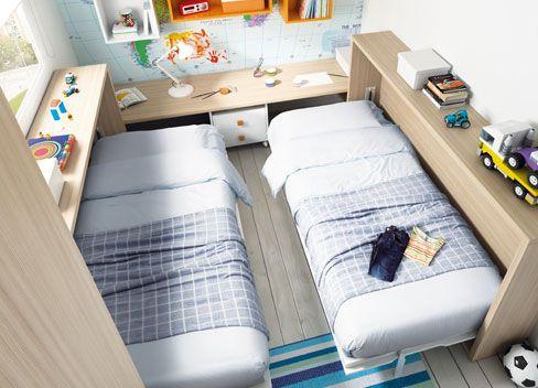 Habitaciones juveniles para dos nos gusta compartir - Habitaciones dos camas decoracion ...