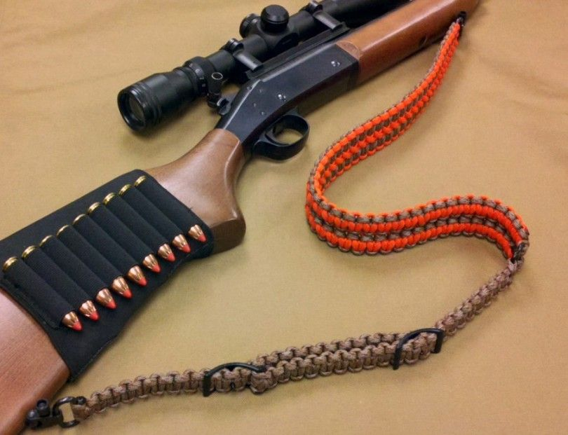 Custom Camo Paracord Gun Sling Rifle Strap with Swivels