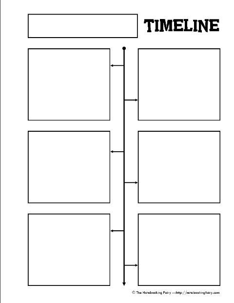 Free Timeline Notebook Page Graphic Organizers
