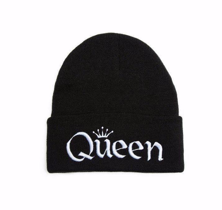 Beanie with word QUEEN Embroidered Hat