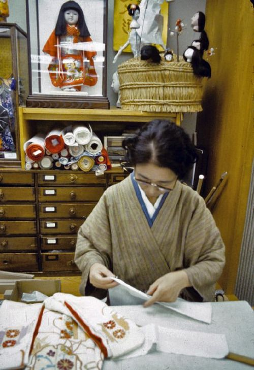 Dollmaker at the KyotoCraft Center, Japan