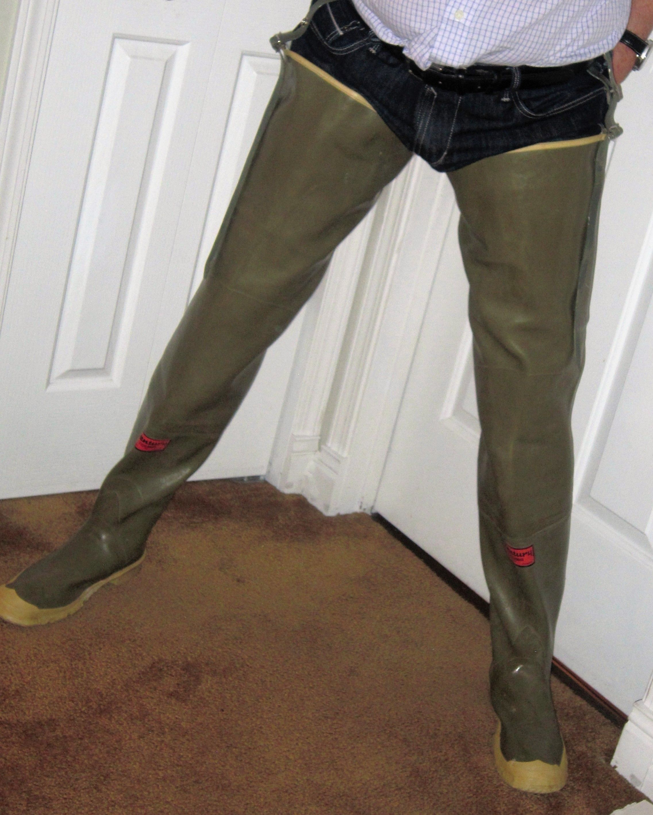 a45ce15051a All the way up real ticklers rubber hip waders jpg 2272x2835 Thigh high rubber  hip boots