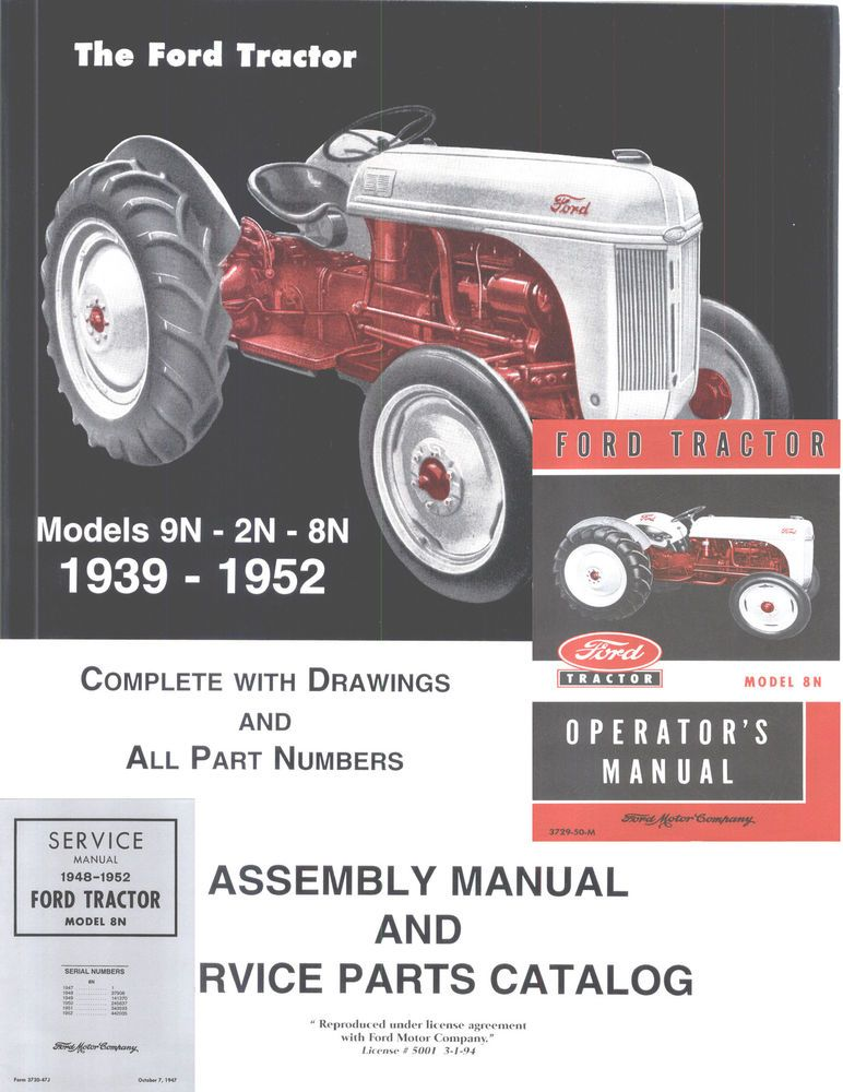 ford 8n 9n tractor service manual repair workshop manuals 3 in 1 rh pinterest com 8N Ford Tractor Timing Marks 8N Ford Tractor Timing Marks