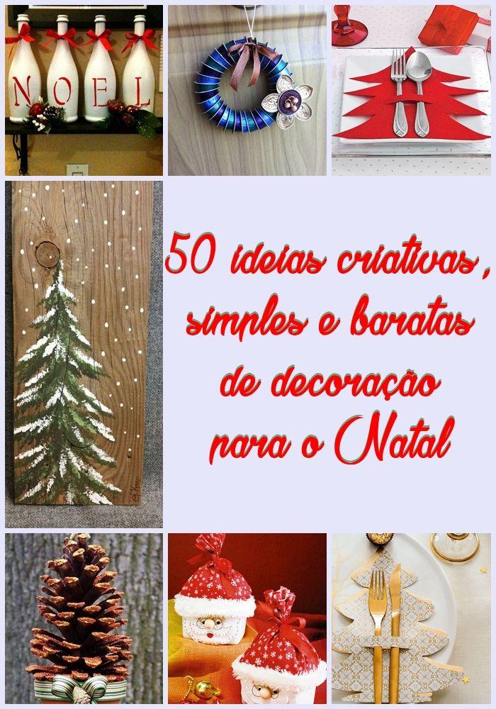 Decorações de Natal simples e criativas Festas e eventos festas importantes natal, ano novo  -> Decoração De Natal Simples E Barata Para Mesa