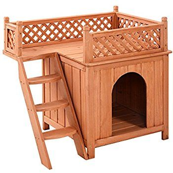 Amazon Com Giantex Wooden Puppy Pet Dog House Wood Room In