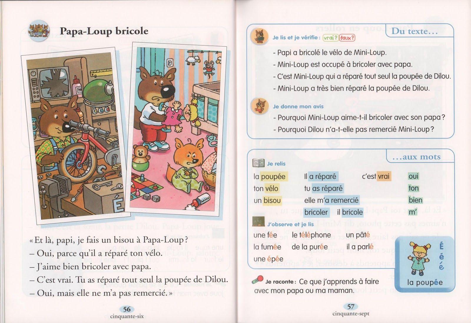 Ecole References Je Lis Avec Mini Loup Livret 1 2000 Loup Lecture En Maternelle Livret