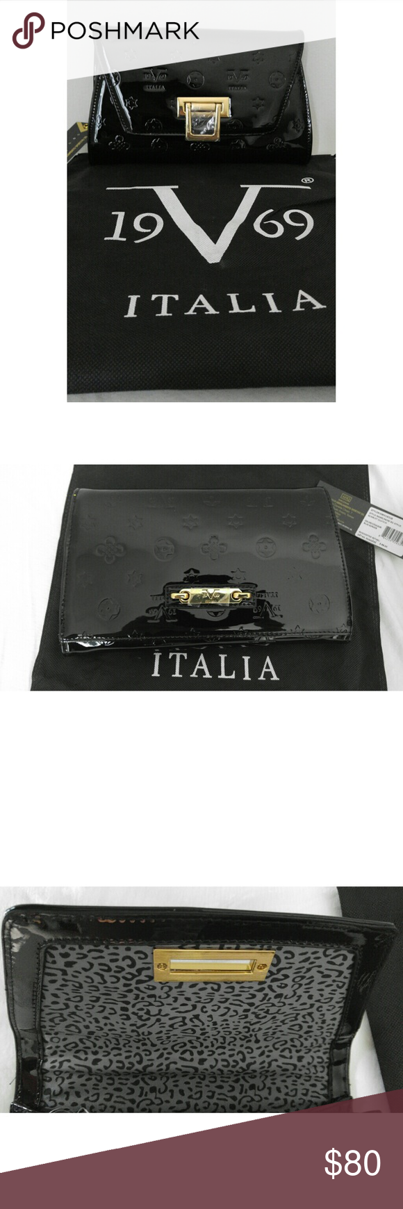 cd3ad9ce Versace 19.69 Italia Black Signature Clutch Versace 19.69 or V 19.69 ...