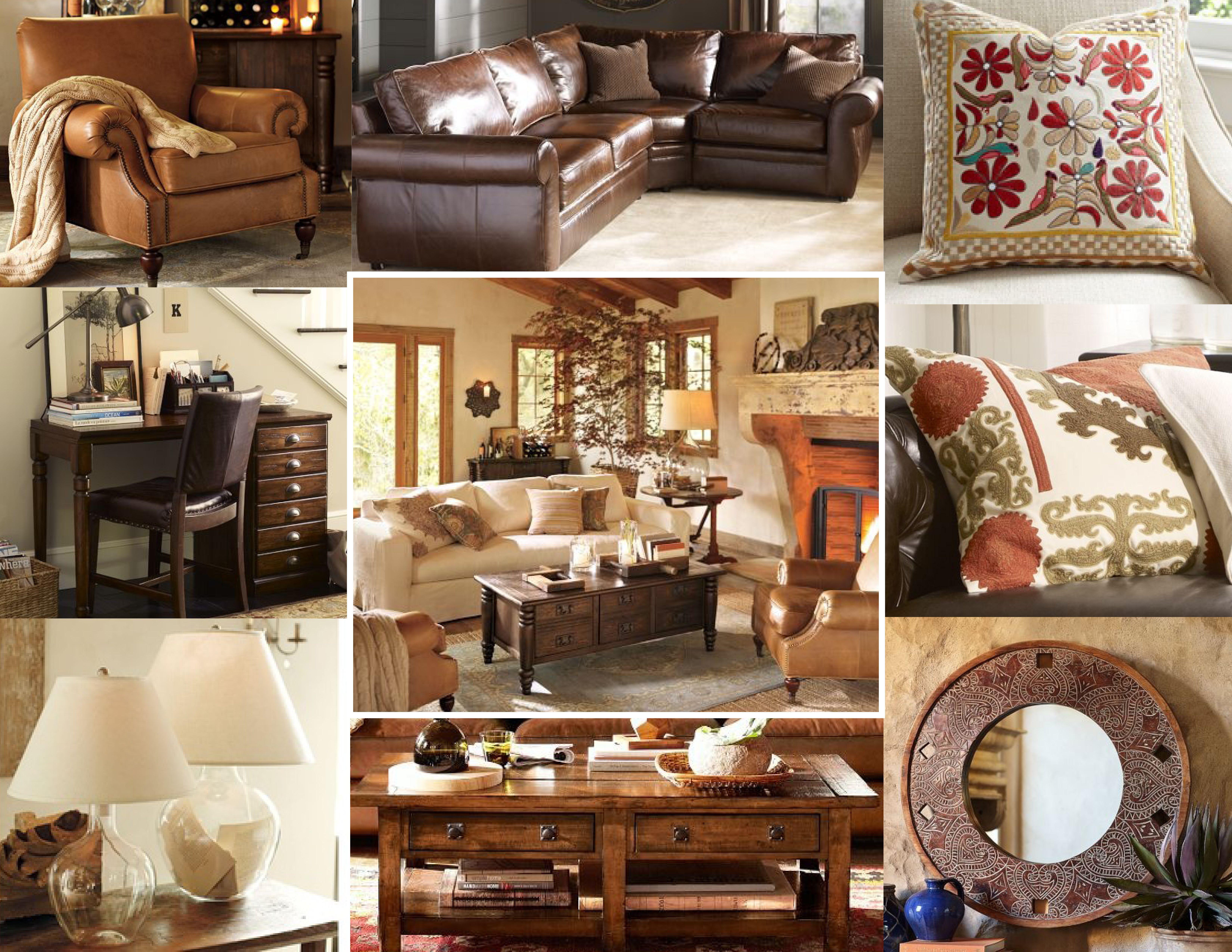 Warm and Earthy Living Room Mood Board