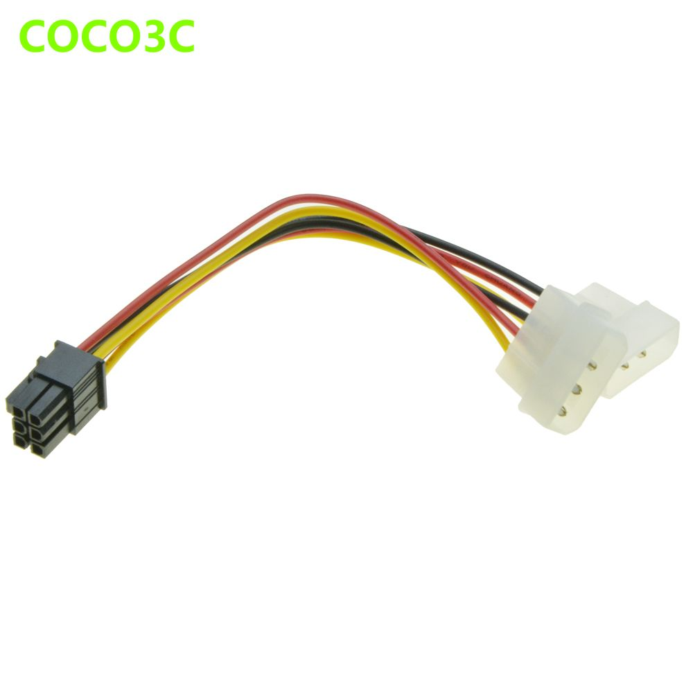 6pin Male 1 To 2 Molex 4pin Ide Male Power Supply Cable Graphics Card Power Port To D Plug Cable For Nvidia Ati Amd Video Card Video Card Cable Ebay