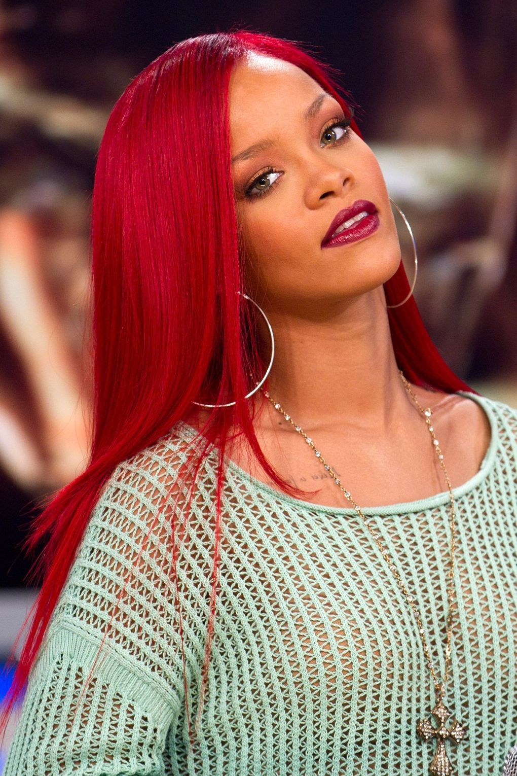 Rihanna's Best Ever Hairstyles: A Timeline | Rihanna red