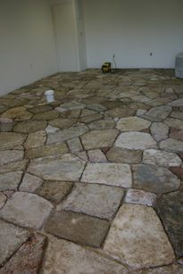 Papier Mache Stone Floor Made Individually With Pulp