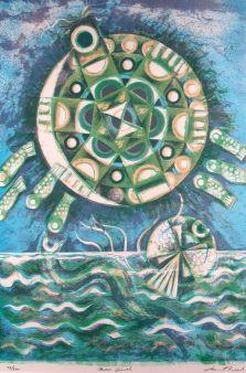Leonard French Moon Turtle Modern Art Artists Australian