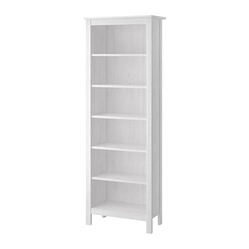 ikea brusali bookcase white adjustable shelves so you can customize your storage as needed