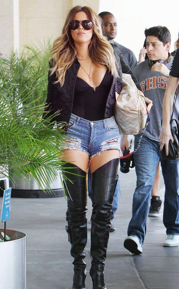 Khloe Kardashian wearing the Marni bodysuit