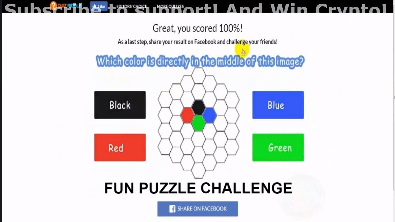 Fun Puzzle Challenge Answers Quizriddle 100  Score