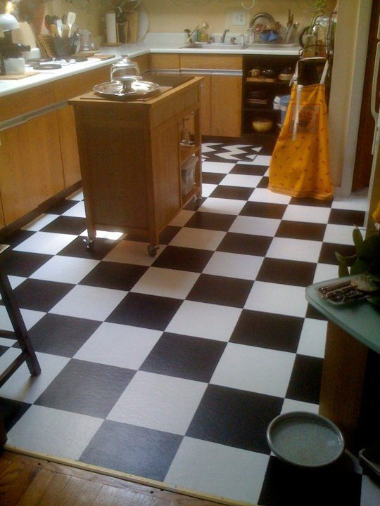Kitchen Tiles Painted Over diy room decor: how to paint over vinyl floor tiles — apartment