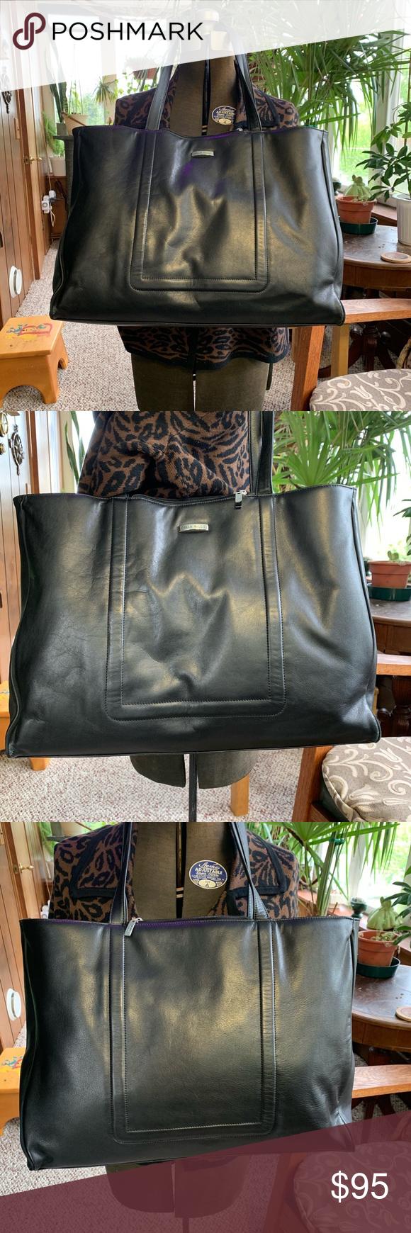 Pelle Studio Leather Bag Briefcase Black EUC Leather bag