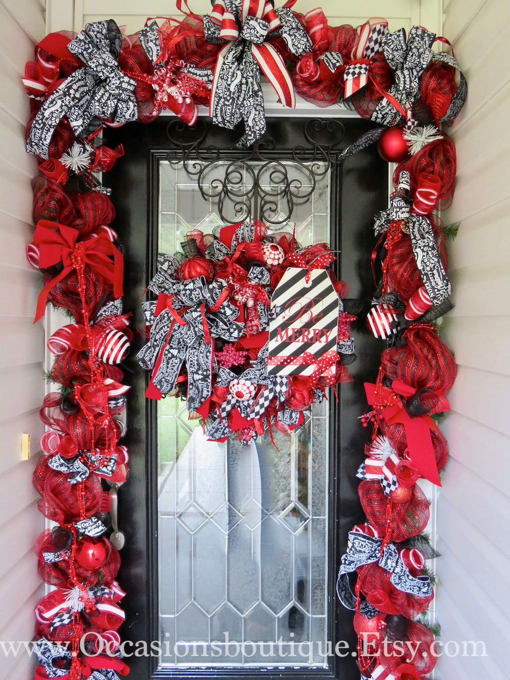 Umbrella Wreath Door Hanger Decor April Showers Red White Black Umbrella Wreath Door Wreaths Diy Hanger Decor