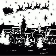 Billedresultat For Winter Landscape Silhouette Scherenschnitt Weihnachten Weihnachtsschablonen Weihnachten Schattenbilder