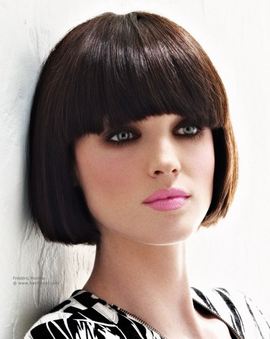 classic bob with a rounded fringe   bobs   pinterest   classic bob