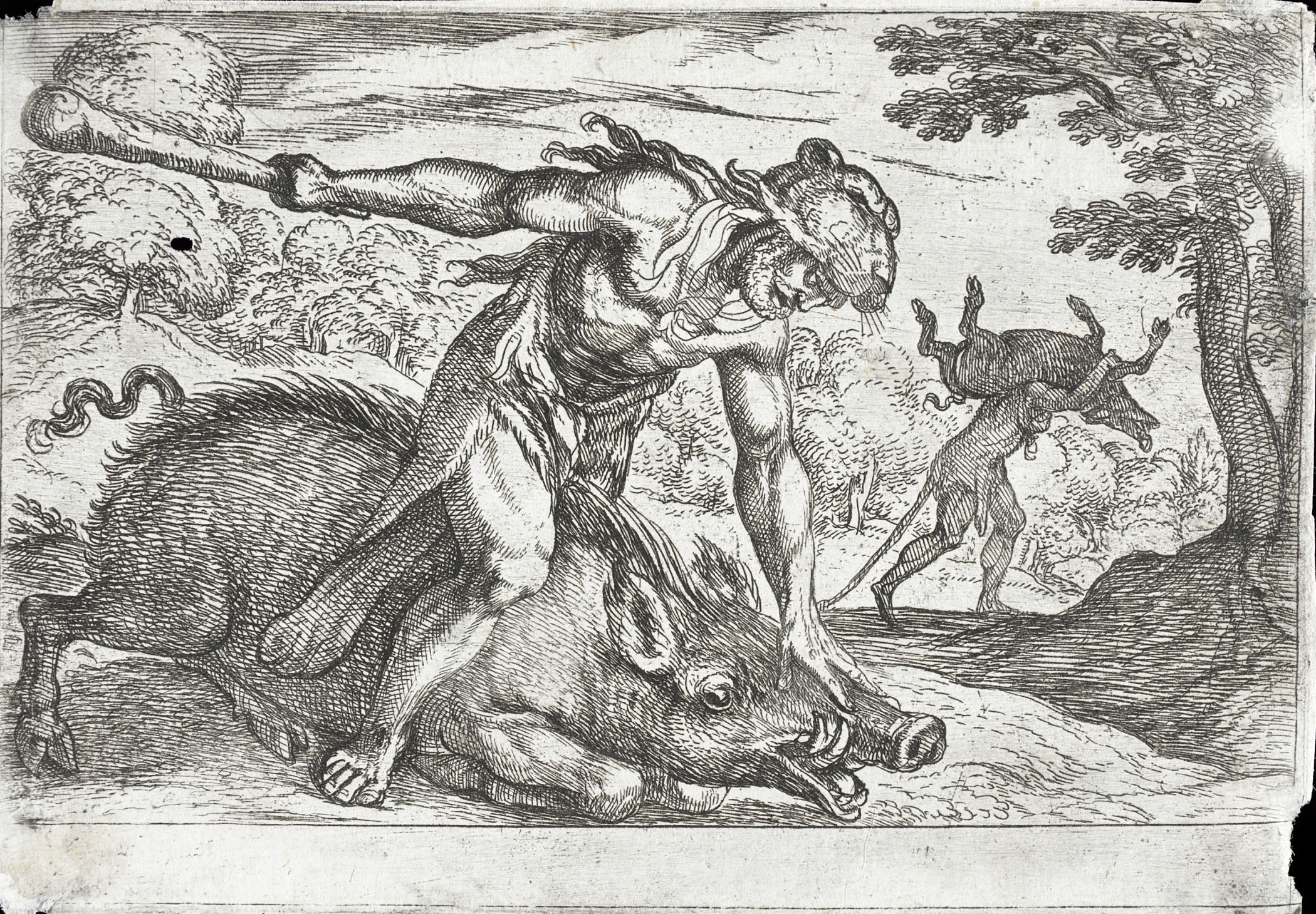 Hercules vs the Erymanthian Boar | art Gallery | Pinterest ...