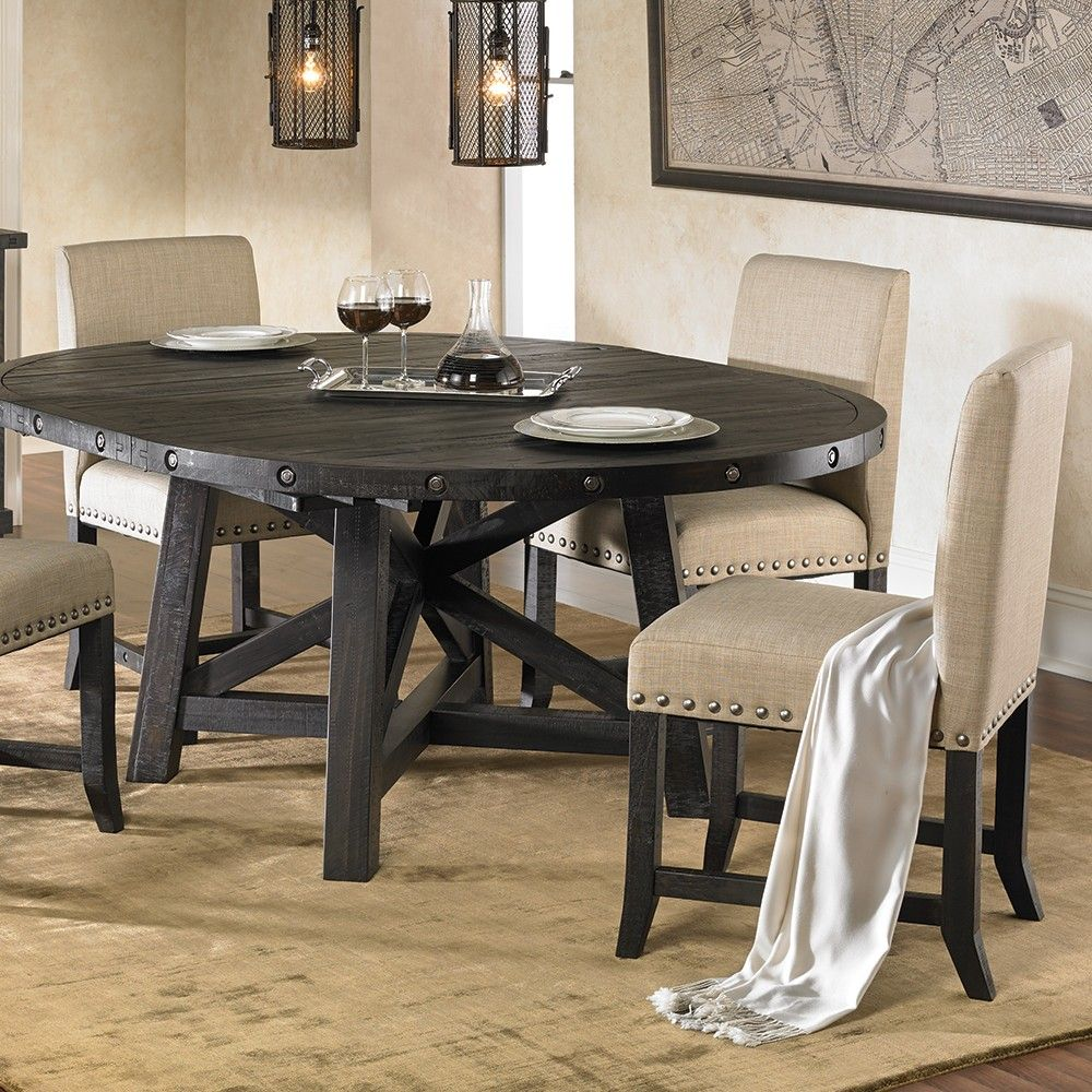 Yosemite 5PC Round Dining Collection Oak dining room