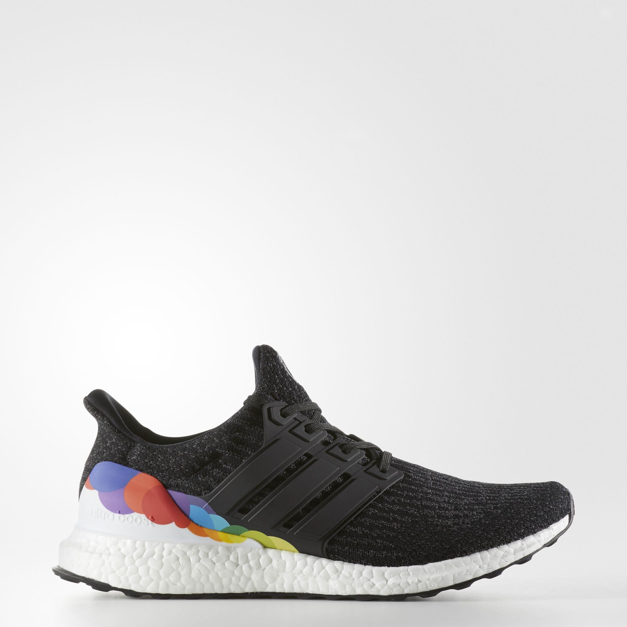 "size 40 2df7d 2327f ""adidas will celebrate LGBT month with this black Ultra Boost that features  rainbow detailing"